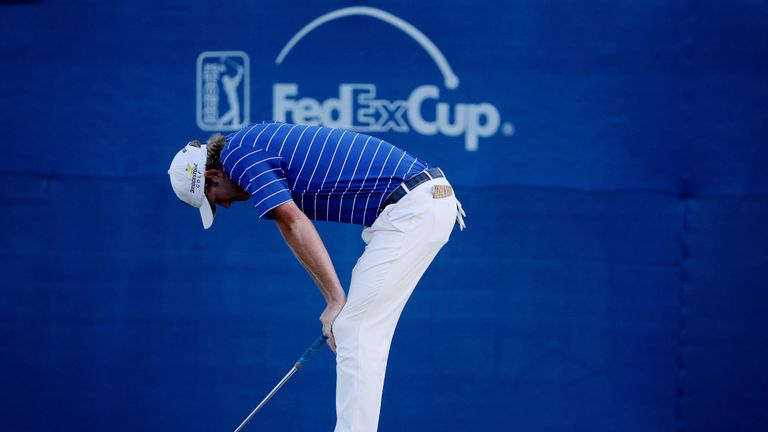 Brandt Snedeker was left in disbelief after missing a putt to extend the play-off