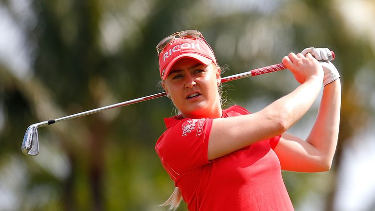 Charley Hull carded four birdies over the last eight holes to reclaim a share of the lead