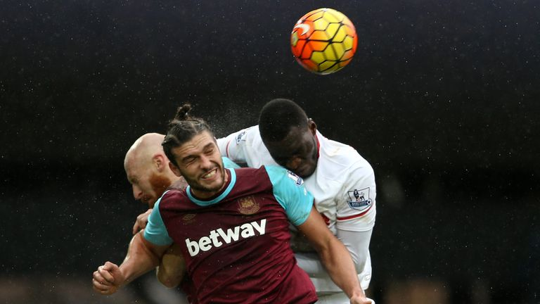Andy Carroll won the battle of the big men at the Boleyn Ground