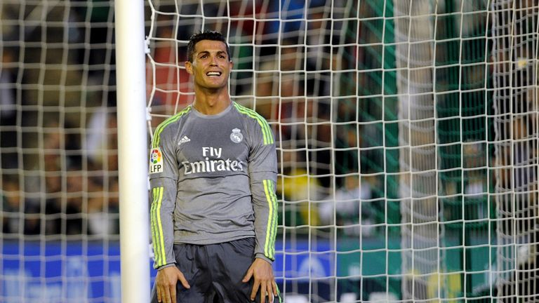 Cristiano Ronaldo could not find the net against Betis