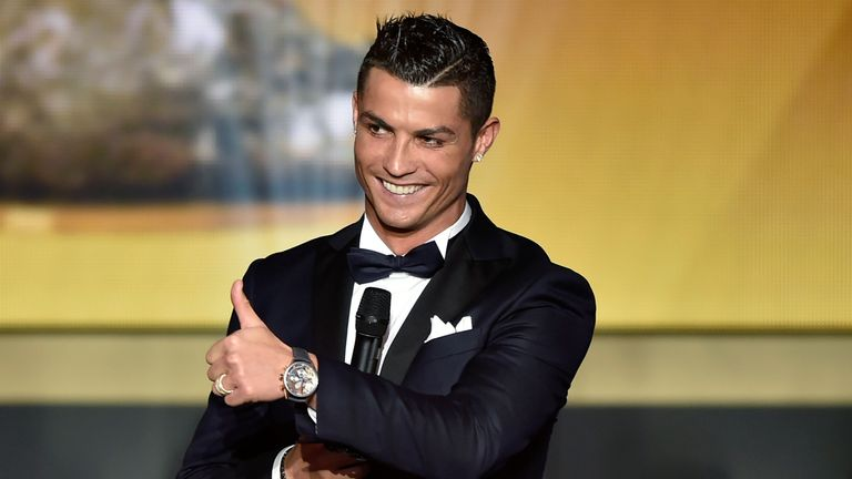 Cristiano Ronaldo earned the vote of England manager Roy Hodgson