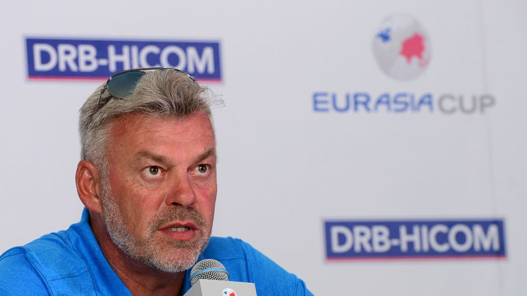 Darren Clarke was speaking in a press conference ahead of the EurAsia Cup