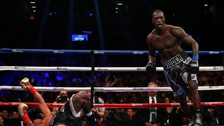 Wilder had the final word in the ninth round of an entertaining battle with Artur Szpilka