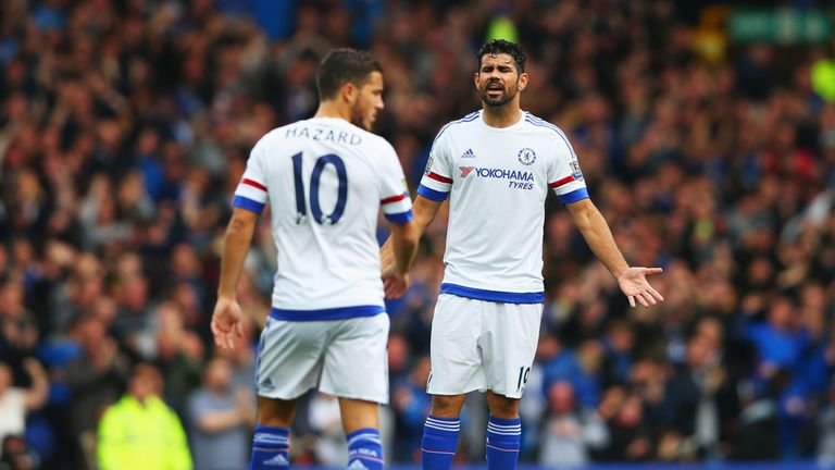 Eden Hazard (left) and Diego Costa are in contention for Sunday's match against Arsenal
