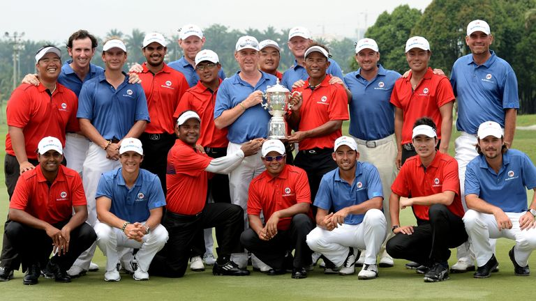 Europe and Asia shared the trophy in 2014