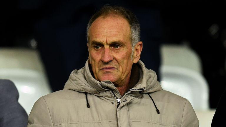 Francesco Guidolin watched from the stands
