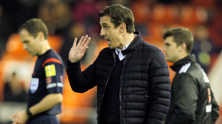 Gary Neville's Valencia are yet to take the lead in a league game under his management.