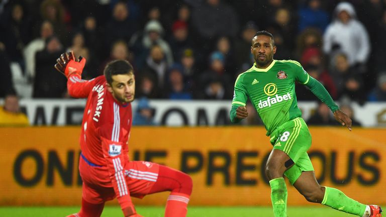 Jermain Defoe scored a hat-trick for Sunderland