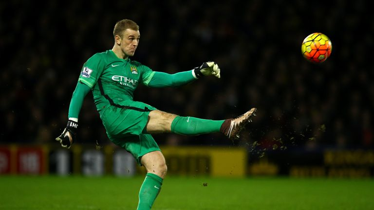 Joe Hart has a passing accuracy of 54.08 per cent