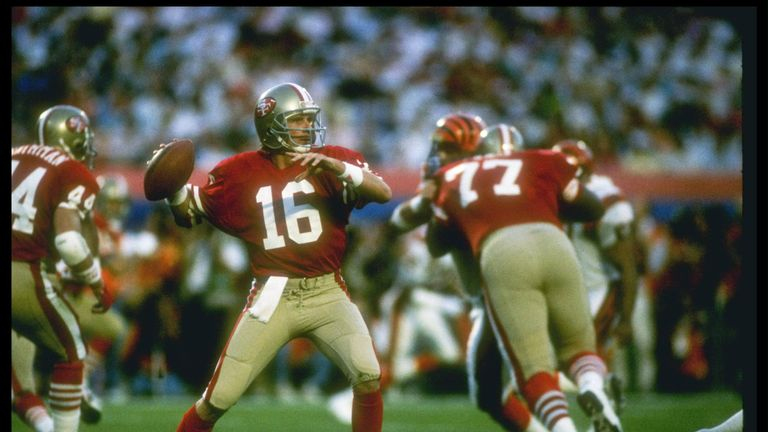 The great Joe Montana features in our list