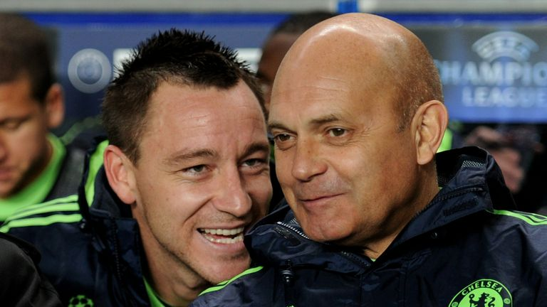 Ray Wilkins (R) coached John Terry while working as Carlo Ancelotti's Chelsea No 2