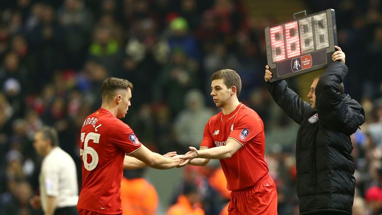 Jon Flanagan (right) is set for a first start since May 2014