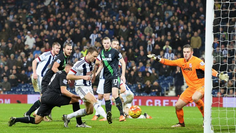 Jonny Evans scored the winner for West Brom against Stoke at The Hawthorns