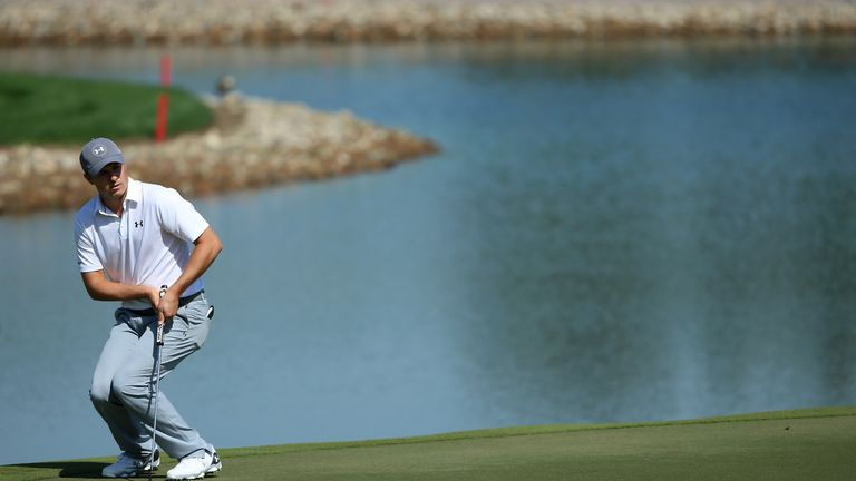 Jordan Spieth wasn't his usual prolific self with the putter during his week in Abu Dhabi