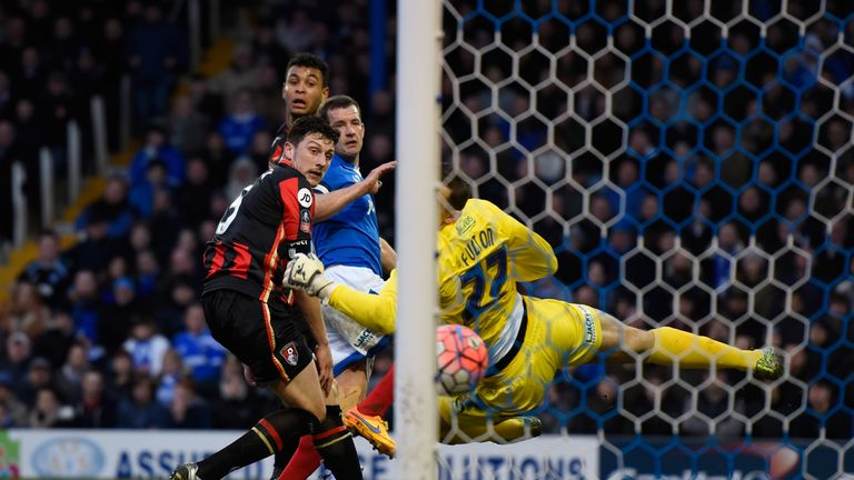 Joshua King equalises for Bournemouth against Portsmouth