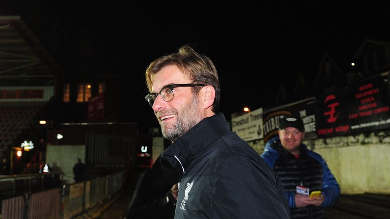 Jurgen Klopp played a young side in the FA Cup against Exeter on Friday