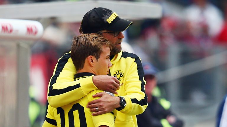 Jurgen Klopp helped bring Mario Gotze through the ranks at Borussia Dortmund