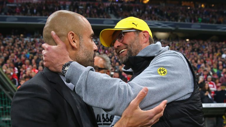 Klopp locked horns with Guardiola when he worked in Germany