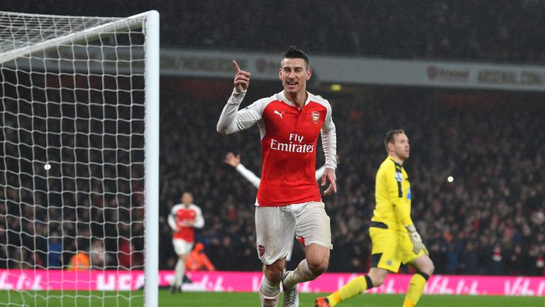 Laurent Koscielny scored Arsenal's winner against Newcastle