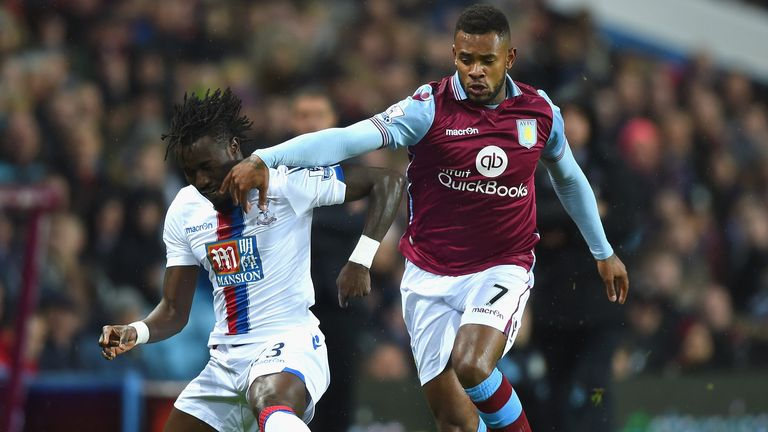 Leandro Bacuna (r) plans to leave Aston Villa by 2018