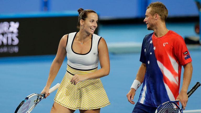 Jarmila Wolfe and Lleyton Hewitt of Australia Gold