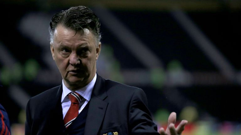 Louis van Gaal's Manchester United are currently six points off the top four