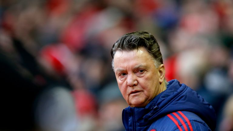 Louis van Gaal's side have scored at least nine goals less than the four sides above them