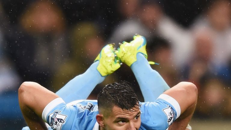 Sergio Aguero has scored every 95.43 minutes on average this season