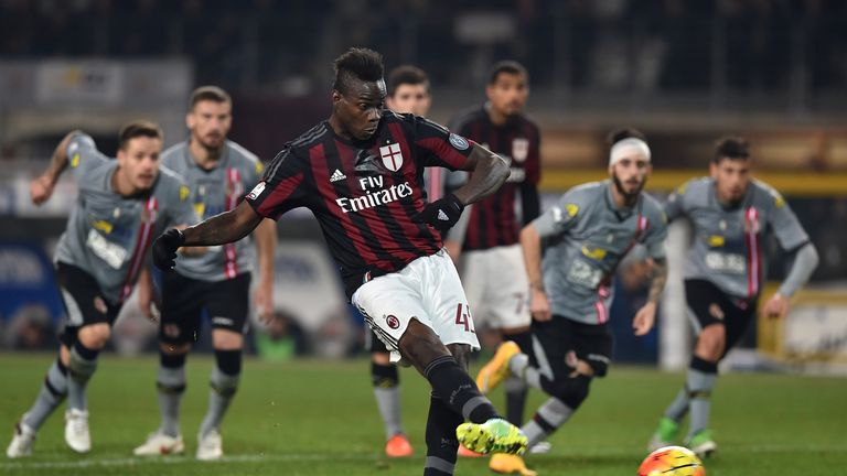 Mario Balotelli gave AC Milan a 1-0 advantage in the first leg, and also scored the fifth on Tuesday evening