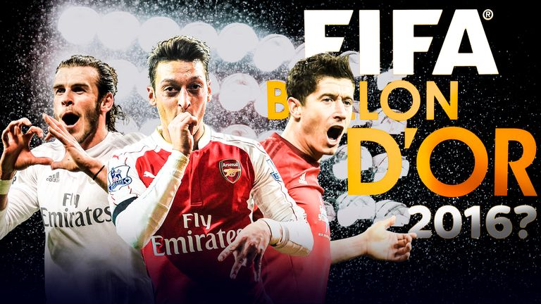 Gareth Bale, Mesut Ozil and Robert Lewandowski are among the players hoping to be in the frame for the next Ballon d'Or