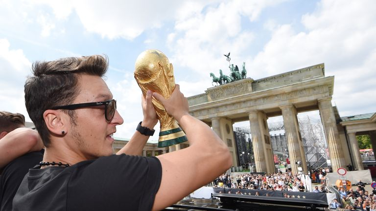 Mesut Ozil won the World Cup with Germany in 2014