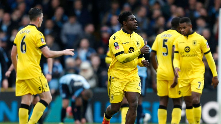 Villa's Micah Richards gave Villa the lead at Adams Park