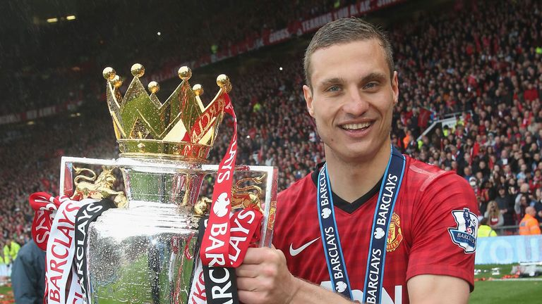 Nemanja Vidic spent eight years at Man Utd, winning five Premier League titles