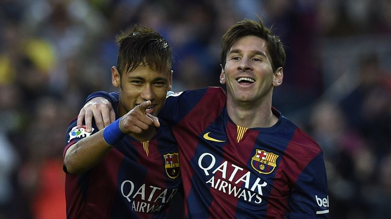 Barcelona  forwards Neymar (left) and Lionel Messi are both in the side