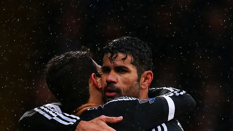 The pair celebrate together after last Sunday's 3-0 victory over Crystal Palace at Selhurst Park