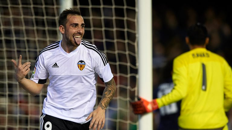 Paco Alcacer earned Valencia a point with a late equaliser