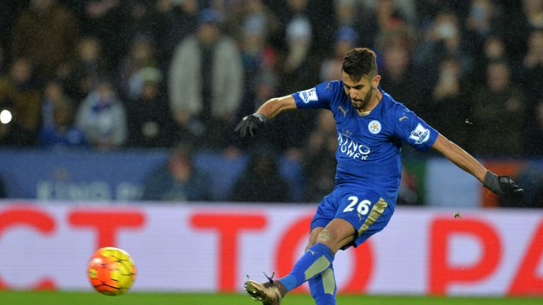 Riyad Mahrez had this penalty kick saved by Artur Boruc