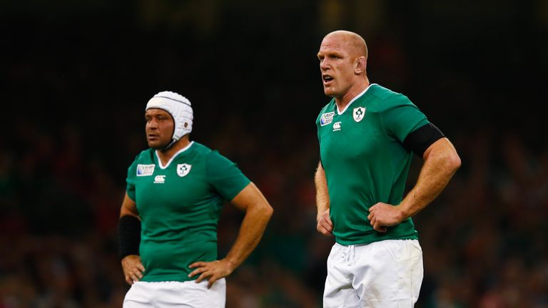 Best (left) succeeded Paul O'Connell as Ireland captain