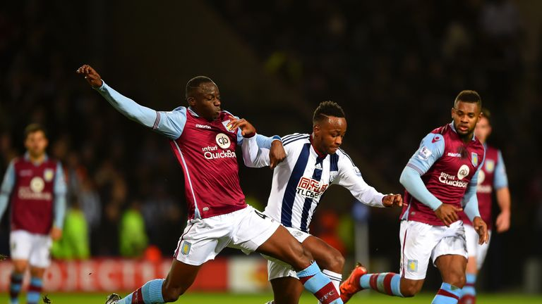 Saido Berahino (middle) came on for West Brom but made little impact