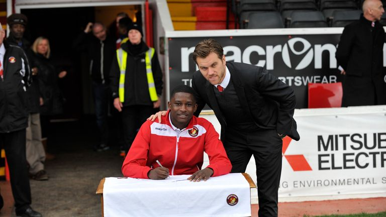 Shilow Tracey has signed for Tottenham (Pic: Dave Plumb / Ebbsfleet United FC)