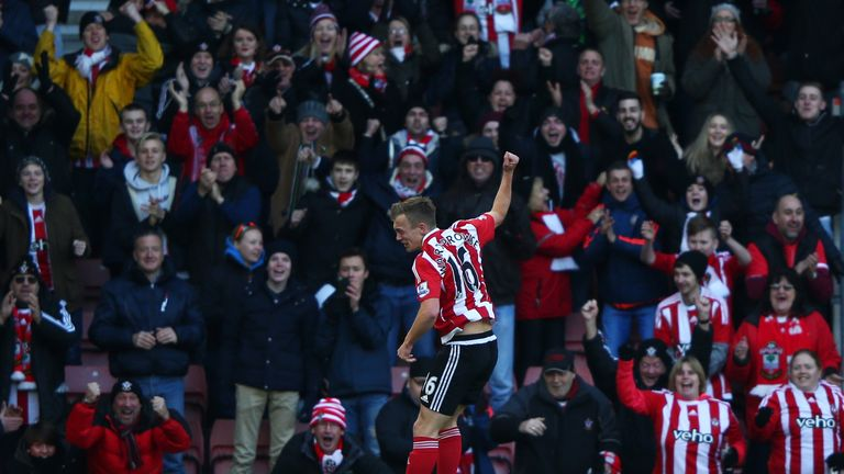 James Ward-Prowse celebrates his brace for the Saints