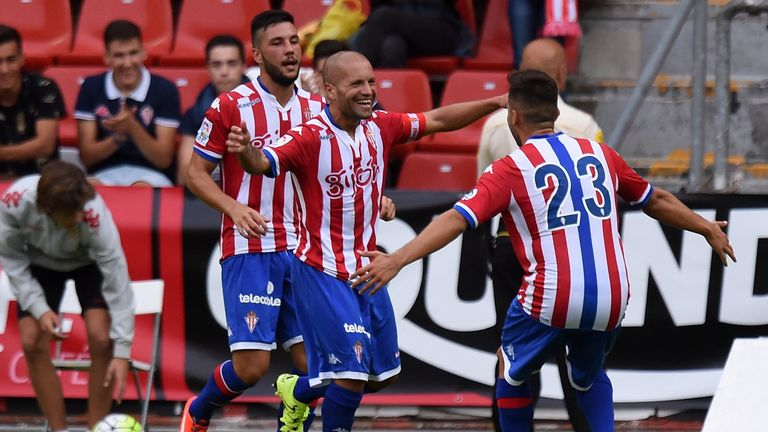 Sporting Gijon have moved out of the relegation zone after their 1-0 win against Valencia