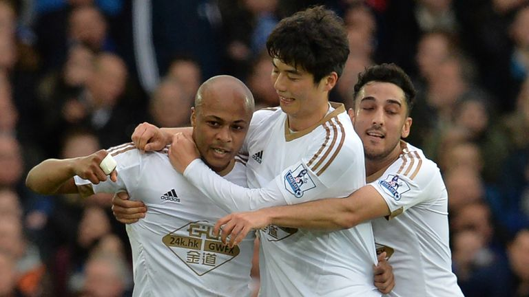 Ayew was on target