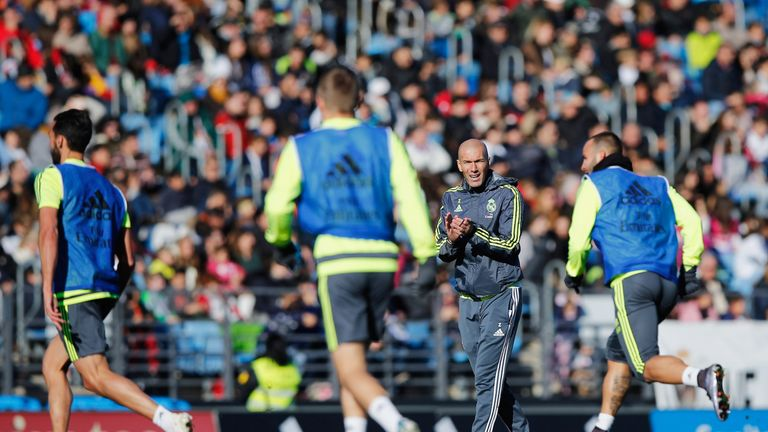 Zidane took his first training session as Real manager in front of thousands of fans on Tuesday