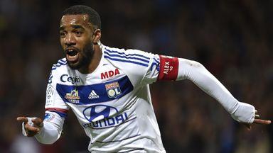 Lyon striker Alexandre Lacazette is a target for West Ham