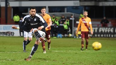 Kane Hemmings scores against Motherwell last season