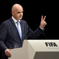 Gianni Infantino won 88 votes in the first round of voting at the FIFA presidential election
