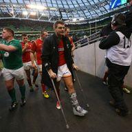 Dan Biggar suffered a sprained ankle against Ireland