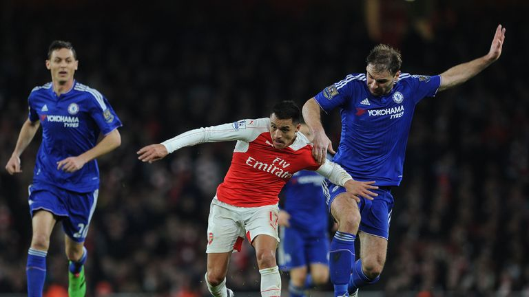 Alexis Sanchez made his first appearance since November against Chelsea