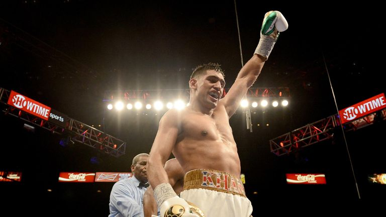 Amir Khan will fight at middleweight for the first time when he takes on Canelo Alvarez at a catchweight 15lbs